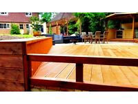 Decking, Fencing, Paving, Wooden gazebo, Cover all London areas and around