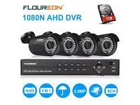 4 cctv camera dvr 1080p 1 tv hdd security