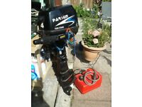 Parsun outboard engine 4 hp 4 stroke. It's 3 years old but only has 10 hours running time. As new.