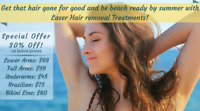 Laser Hair Removal (only  Ladies)GET EXTRA 30%OFF
