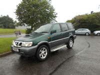 NISSAN TERRANO 2.7 TD DIESEL 7 SEATER 4X4 STUNNING GREEN 2004 BARGAIN ONLY £1250 *LOOK* PX/DELIVERY