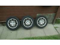 3x ford focus alloys and tyres