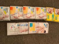 Various sizes of nappies