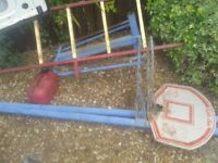 FREESTANDING BASKETBALL NETBALL HOOPS STANDS 10FT STEEL POLES,CAN DELIVER