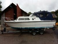 20 ft Norman cruiser boat, with trailer, and fees paid on Coniston water Cumbria