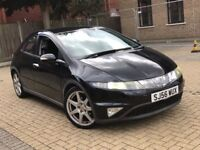 HONDA CIVIC 1.8 I-VTEC EX PETROL AUTOMATIC NEW MOT 5 DOOR HATCHBACK 5 SEATS BLACK NOT AURIS COROLLA
