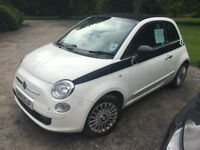Fiat 500 fully convertible. Full service History. MOT till 2018. Two owners from new.