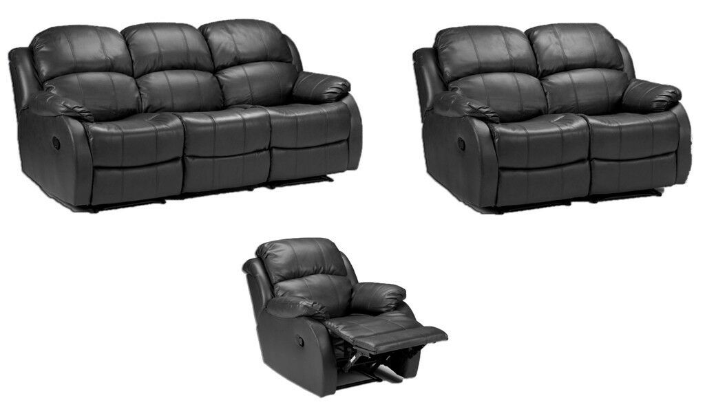 3 2 lazy boy recliner sofa black or brown real leather fast deliveryin Luton, BedfordshireGumtree - 190cm 3st 150cm 2st FOR MORE ((07543532963)) brand new black leather full recliner sofa set shop price £1299 our price £449 plus delivery £49.99 delivery we are on line only so you pay cash to driver on delivery and feel safe 12 months warranty