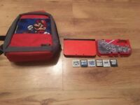 Orange New 3ds Xl Limited edition with games