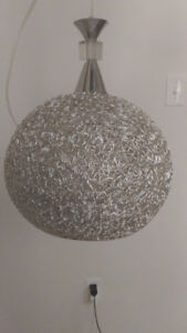 Crystal and Metal Mesh Pendant Light (Silver and Gold Available)