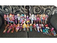 29 Ever After High Doll Bundle inc Rare O'Hare Sisters plus Stands, Brushes & More