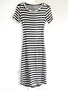 STRIPED CUTOUT DRESS $10