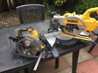 Dewalt 54v chop saw & circular saw