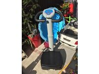 Flabelos machine, vibration plate