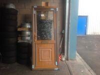 Double Glazed (Light-Oak) Upvc Door (BRAND-NEW)