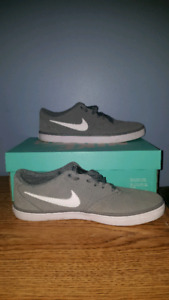 Grey Nike SB shoes