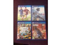 PS4 Game Collection incl. NBA2K15, GTA V, MLB The Show 14 & FIFA 15