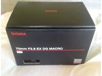 Sigma EX 70mm f/2.8 EX DG Lens MACRO with free delivery