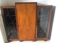 Antique Walnut Large side unit -1930's