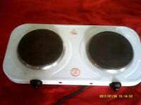 DOUBLE HOTPLATE - IDEAL FOR STUDENT ACCOMMODATION OR CARAVAN ETC