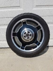 Touring Rims, Tire, Ember Red sunglo paint