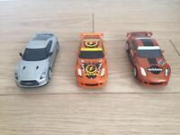 Three scalextric drift cars