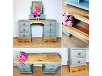 Farmhouse Rustic Country DRESSING TABLE WITH MIRROR. Delivery available