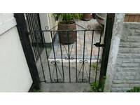 Iron Garden Gate. 3ft by 3ft adjustable hinge