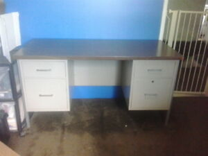 Vintage Metal Executive Desk