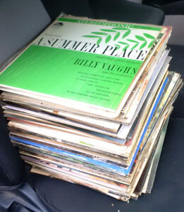 Stack of Old Records
