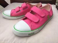 Ralph Lauren pink girls shoes size uk 2.5 brand new