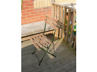 Vintage wood and metal Folding Bandstand Chair