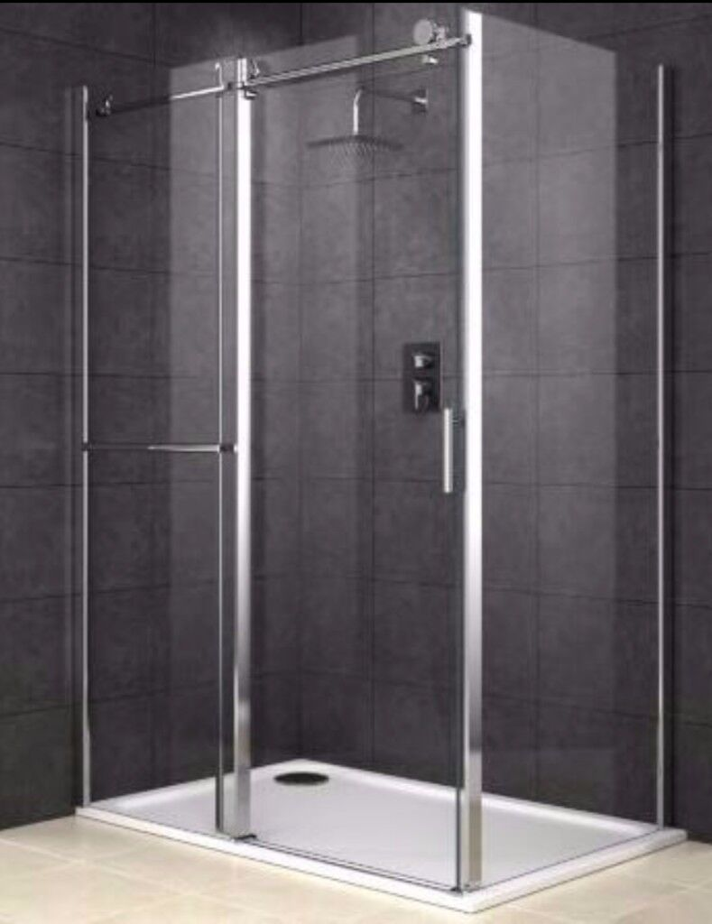 COOKE & LEWIS ECLIPSE RECTANGULAR SHOWER ENCLOSURE WITH SINGLE ...