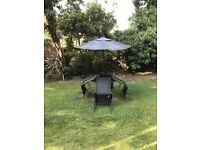 Black garden furniture for sale with 4 chairs