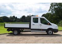 2015 64 FORD TRANSIT 2.2 TDCI 155 T350 TREND DOUBLE CAB DROPSIDE TWIN WHEEL DIES