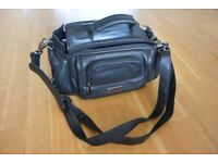 Fujifilm Black Leather Camera Bag NEVER USED!