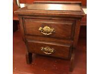 2 Draw Miniature Antique Solid Wood Dresser £50