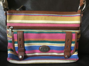 Fossil bag purse multi-color