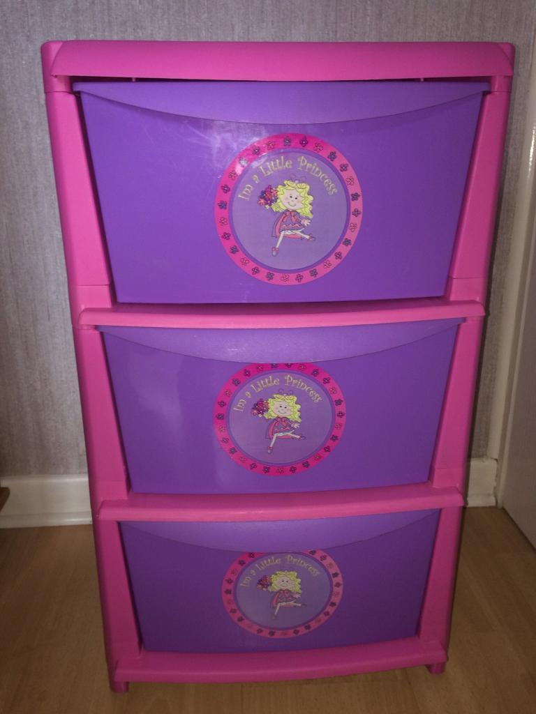 Girls storage tower unit - 3 large drawers