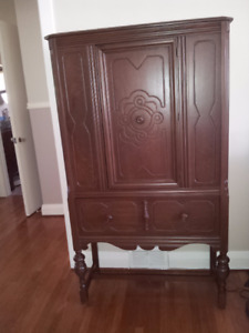 Walnut Cabinet - Antique