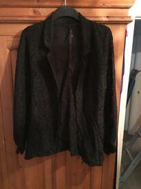 Women's black lace blazer