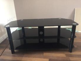 Black Gloss Tv Stand in Good Condition