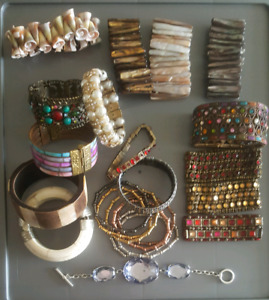 Retro Earrings, Bracelets, Watch