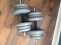 Dumbell weights barely used