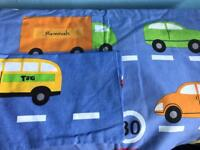 Boys cot bed duvet set