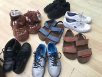 Boys mixed bundle of size 11 junior shoes trainers slippers