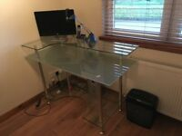 Frosted Glass Office Desk - Great Condition