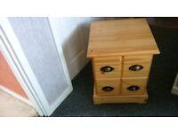 pine 2 drawer units