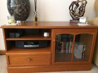 media - entertainment unit / tv unit by stag - teak wood
