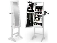 BRAND NEW BEAUTIFY WHITE LED FLOOR STANDING MIRROR CABINET RRP £80 NOW ONLY £45